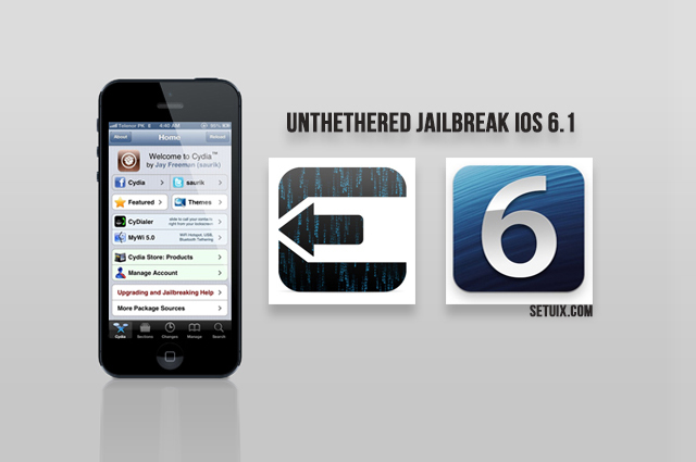 Jailbreak iOS 6.1.2 Untethered On iPhone 5 And All Other Devices