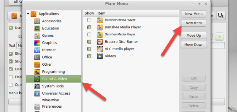 How to Add a Program Shortcut from the Mint Menu