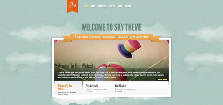 25 Blue Color WordPress Themes