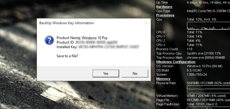 How to Find and Save Your Windows 10 Product Key